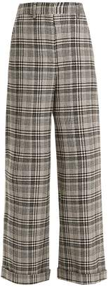 Off-White Tomboy Galles high-rise wide-leg checked trousers