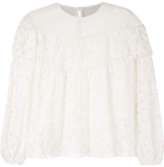 Oasis Nk broderie anglaise Clarisse blouse