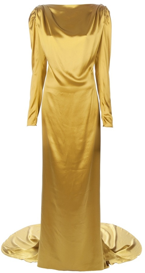 Lanvin satin fishtail gown