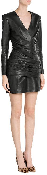 BalmainBalmain Leather Mini Dress