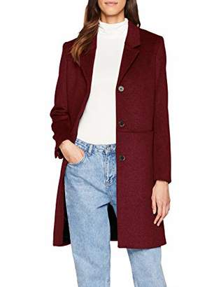 Selected Women's Slfboa Wool Coat B Earth Red, (Size: 38)