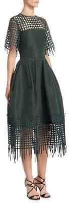 Oscar de la Renta Silk Patchwork Dress