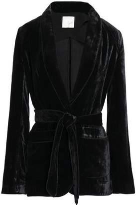 Joie Belted Velvet Jacket