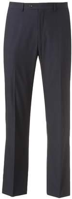 Chaps Men's Classic-Fit Checked Flat-Front Blue Suit Pants