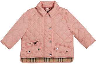 Burberry Brennan Quilted Snap Jacket, Size 6M-2