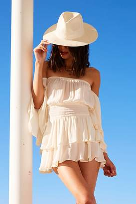 Forever 21 Straw Wide Brim Hat