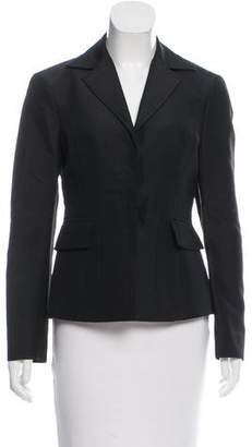 Alberta Ferretti Silk Notch-Lapel Blazer
