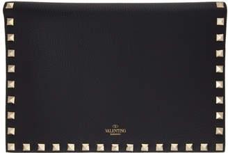 Valentino Black Garavani Medium Rockstud Wallet