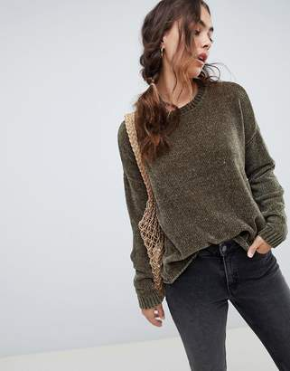 Vero Moda Chenille Knitted Sweater