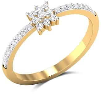 JewelsForum 0.24 Carat Diamond Ring In 14K Yellow