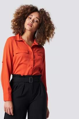 Rut & Circle Rut&Circle Double Pocket Shirt Red Havana