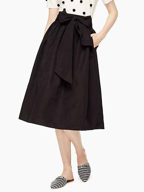 Slub cotton midi skirt