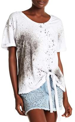 Religion Pulse Front Tie Printed Tee