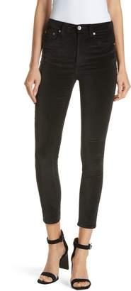 Rag & Bone JEAN High Waist Velvet Skinny Pants