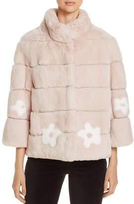 Maximilian Furs Rabbit Fur Floral Jacket - 100% Exclusive