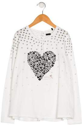 Ikks Girls' Printed Long Sleeve Top