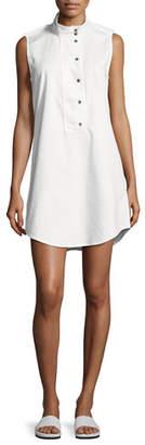 Equipment Freda Sleeveless Cotton Shift Dress, White