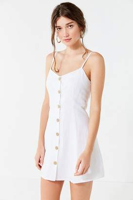 Urban Outfitters Button-Down Strappy Back Linen Dress