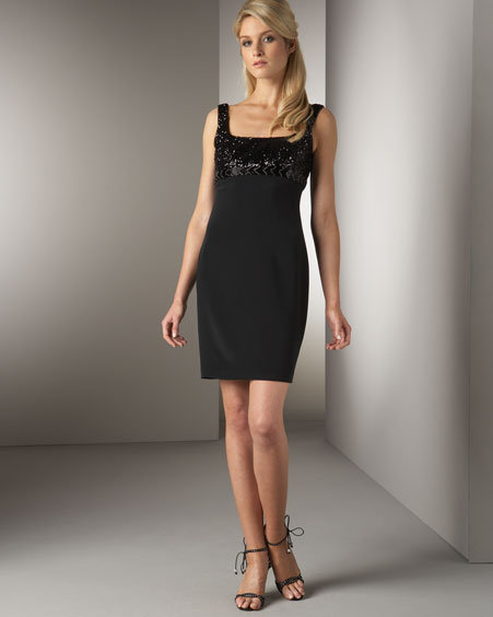 Notte by Marchesa Sequined Sheath Dress