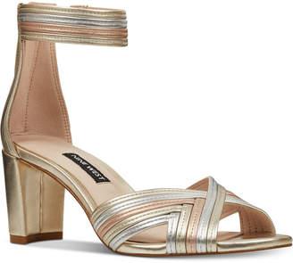 38b1093caae Nine West Pearl Woven Block-Heel Sandals Women Shoes