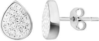 Evoke Sterling Silver & Swarovski Elements Tear Drop Stud Earrings