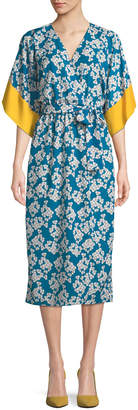 Borgo De Nor Raquel Floral-Print Kimono Wrap Dress