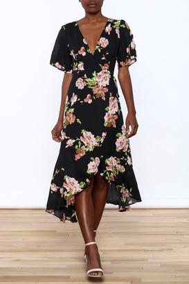 Gina Louise Floral Wrap Dress $68 thestylecure.com