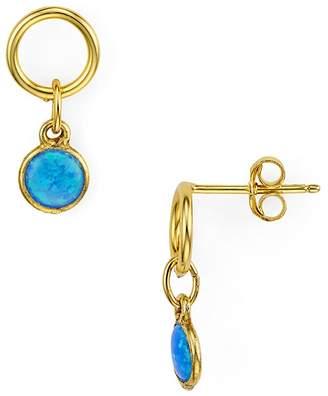 Argentovivo Simulated Opal Small Drop Earrings