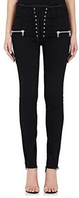 Taverniti So Ben Unravel Project Women's Lace-Up Crop Jeans