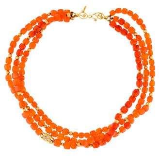 Coomi 20K Carnelian & Diamond Multistrand Bead Necklace