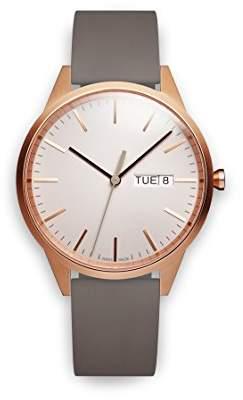 Uniform Wares C40 Swiss Quartz Stainless Steel and Grey Rubber Watch