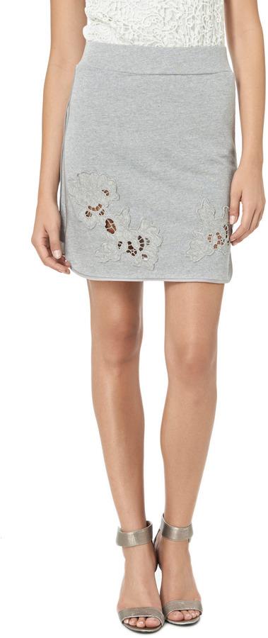 Rebecca Taylor Floral Cutout Skirt