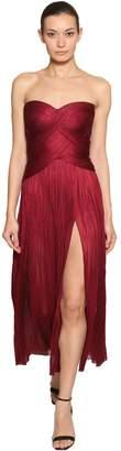 Maria Lucia Hohan Metallic Silk Tulle Midi Dress