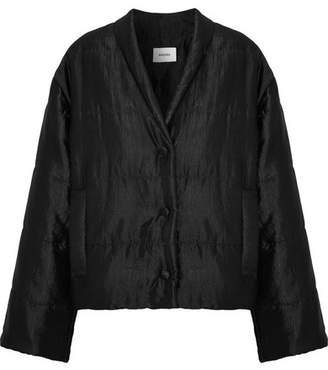 Nanushka - Ling Quilted Satin-faille Jacket - Black