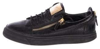 Giuseppe Zanotti Embossed Leather Sneakers