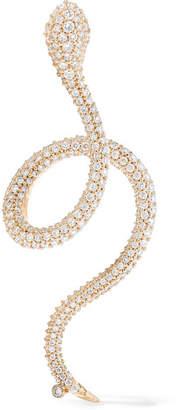 OLE LYNGGAARD COPENHAGEN - Snake 18-karat Gold Diamond Earring
