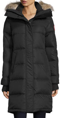 Canada Goose Rowley Hooded Quilted Parka Jacket w/ Fur Trim