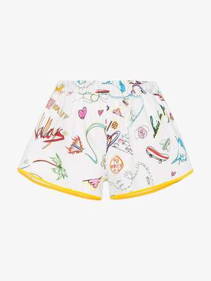 Mira Mikati Cotton shorts with illustration