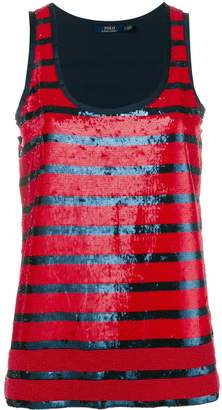 Polo Ralph Lauren striped sequined tank top