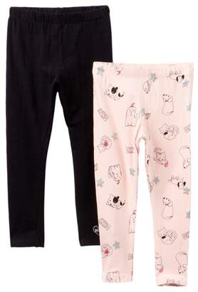 DKNY Direct Print With Silver Glitter Leggings Set - 2 Piece (Toddler Girls)