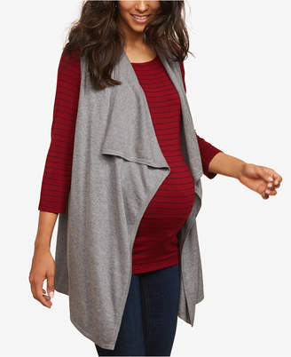 Motherhood Maternity Draped Vest