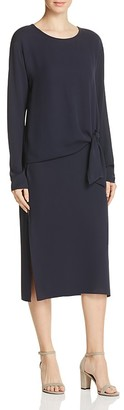 Theory Dorotea Silk Georgette Dress $475 thestylecure.com