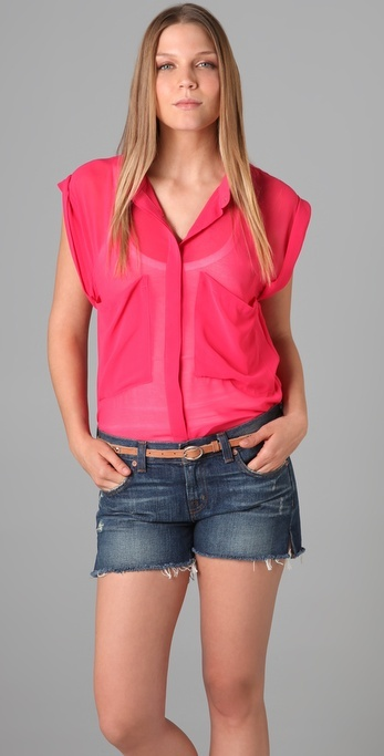 Patterson J. Kincaid Harlow Sleeveless Blouse