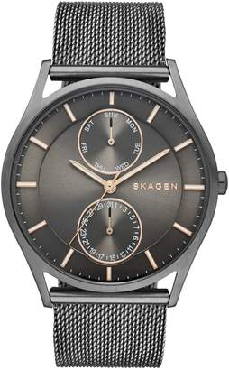 Skagen Holst Stainless Steel Mesh Multifunction Watch