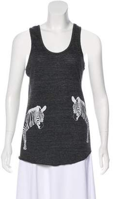 Torn By Ronny Kobo Sleeveless Graphic Top