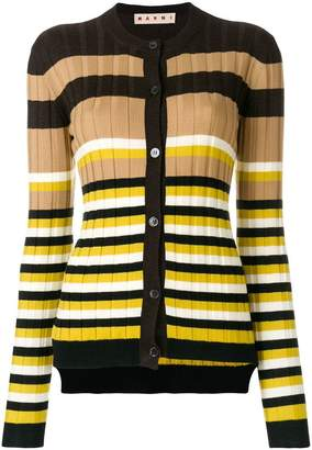 Marni striped rib cardigan