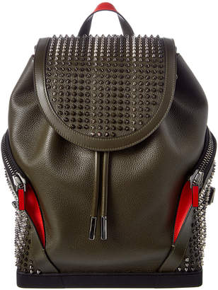 70dc37172a7b Christian Louboutin Explorafunk Studded Leather Backpack