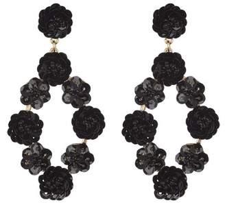 Leslie Danzis Sequin Beaded Drop Earrings