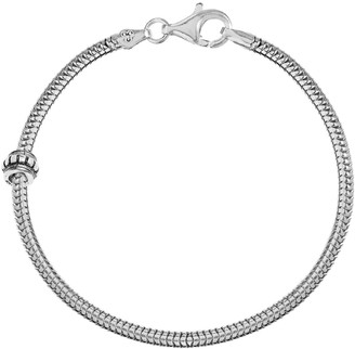 Individuality Beads Sterling Silver Snake Chain Bracelet & Stopper Bead Set - 7 1/2-in.