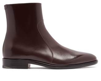 Maison Margiela Icons Leather Chelsea Boots - Mens - Dark Brown